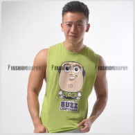 Buzz Lightyear Side Deep-V Hunky Singlet