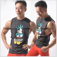 Liberty Mickey Side Deep-V Hunky Singlet