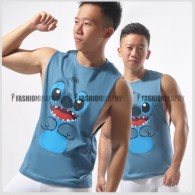 Stitch Side Deep-V Hunky Singlet