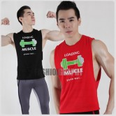 Muscle Loading Side Deep-V Hunky Singlet