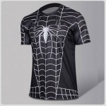 Black Spiderman Compression T-shirt II