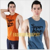 Super Hero Side Deep-V Hunky Singlet