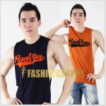 Rock You Side Deep-V Hunky Singlet