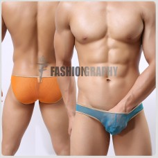 Golden Edge Mesh Transparent Bikini Men's Underwear