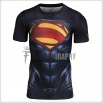 Superman Man of Steel Compression T-shirt III  - Men's Sportswear