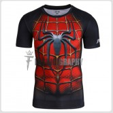Red Spiderman Compression T-shirt III - Men's Sportswear