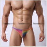 Rainbow Transparency Bikini Men's Underwear
