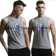 Mysterious Side Deep-V Singlet for Men