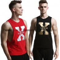 X Side Deep-V Singlet for Men