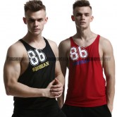 Racerback Side Deep-V Singlet for Men