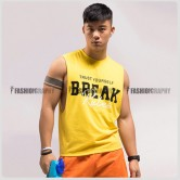 Break Rules Side Deep-V Hunky Singlet