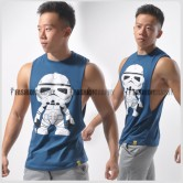 Stormtrooper Side Deep-V Hunky Singlet for Men
