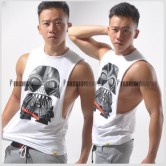 Darth Vader Side Deep-V Hunky Singlet for Men