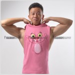 Pink Panther Side Deep-V Hunky Singlet