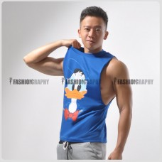 Donald Duck Side Deep-V Singlet