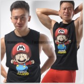Super Mario Side Deep-V Hunky Singlet