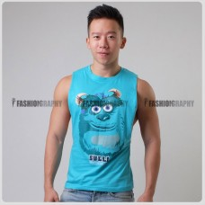 Sulley Side Deep-V Hunky Singlet
