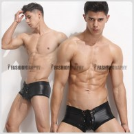 Tie Up Leather Trunk