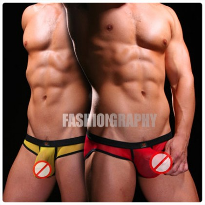 Rainbow 3D Pouch Mesh Transparent Brief