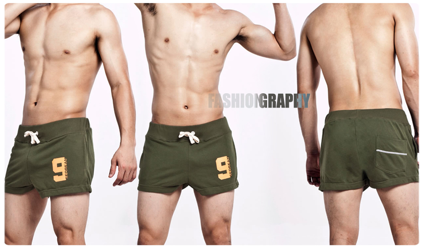Olive Green Trendy Sporty Short for Men