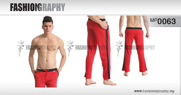 Red Sporty Long Pant