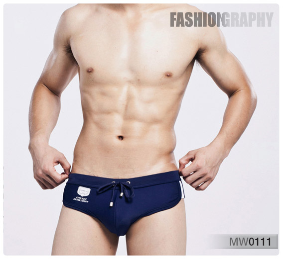 Blue back to school men bikini swimwear