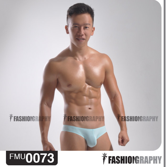 Light Blue Borderless Bikini Men's underwear 1