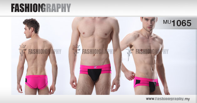 Pink - Mix colours underwear brief for men