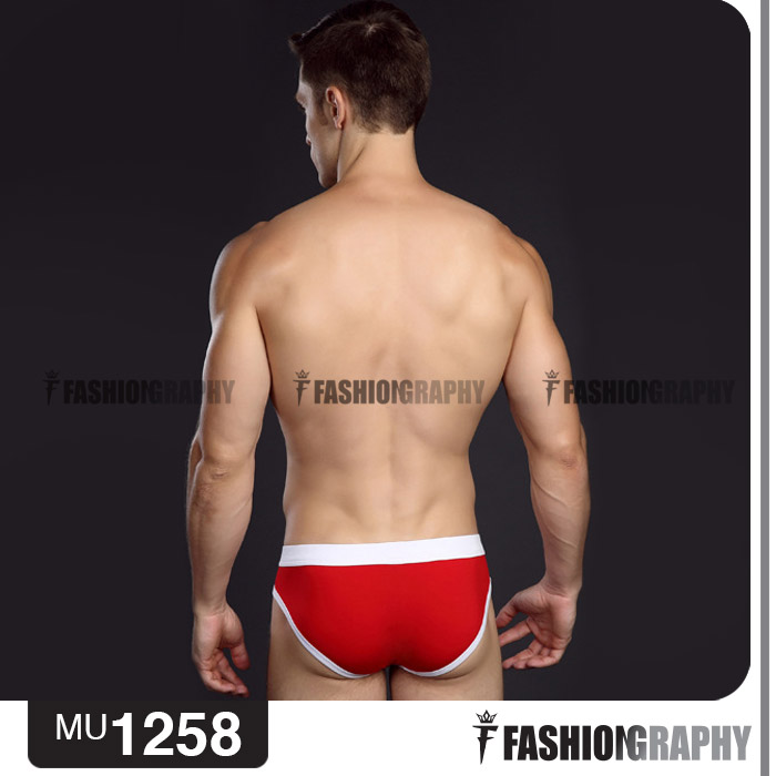 Red Old School Colorful Brief men's underwear