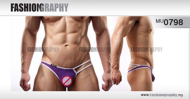 Purple Tarzan T-back Men's underwear