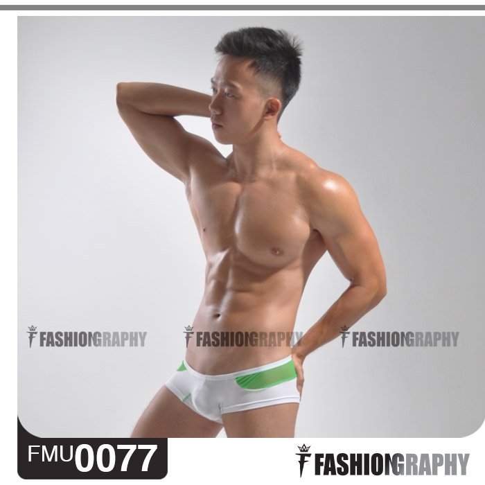Green Extra Low Waist Outer Space Trunk Men's Underwear