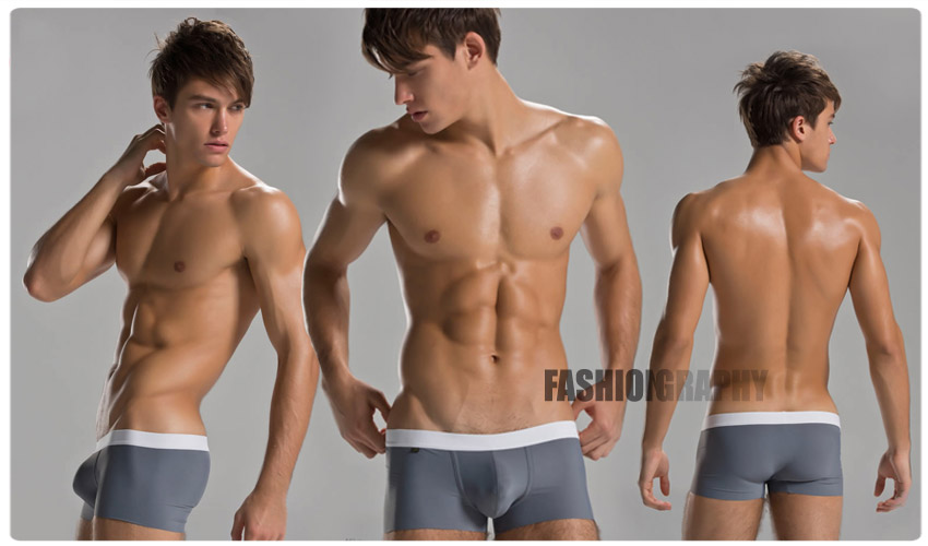 Grey Nature Colour Men Underwear Trunk